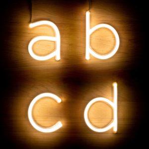 Lettere Neon LED