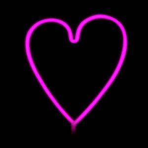 Neon LED heart