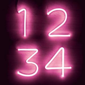 Numeri e simboli Neon LED rosa