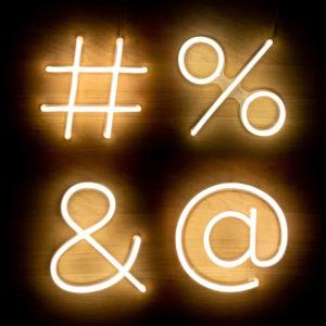 Numeri e simboli Neon lED